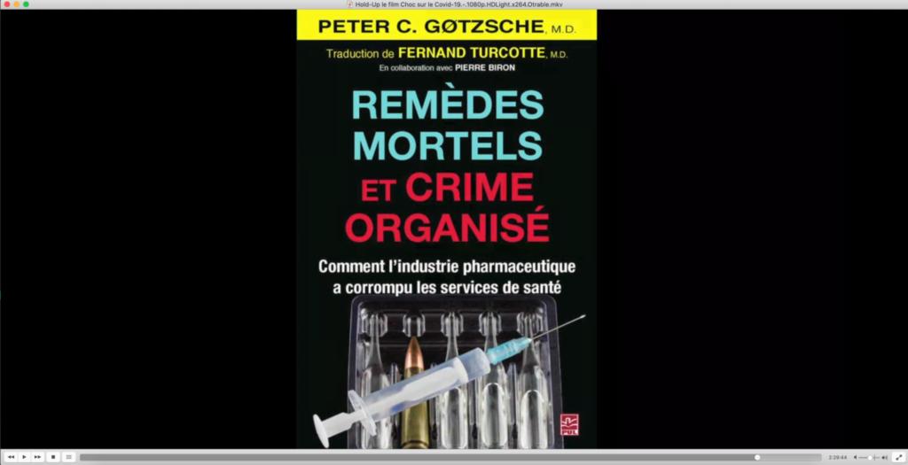 Figure 2: Présentation d'un livre critique contre l'industrie pharmaceutique accusée de corruption des services de santé